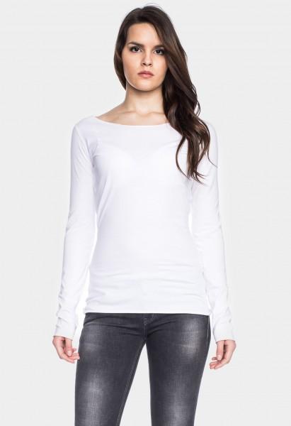 Organic cotton long sleeve shirt Arista, white