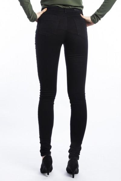 I LOVE TALL wonderjeans skinny extra lange bequeme Jeans 37 Inch Innenbeinlänge, black (hinten)