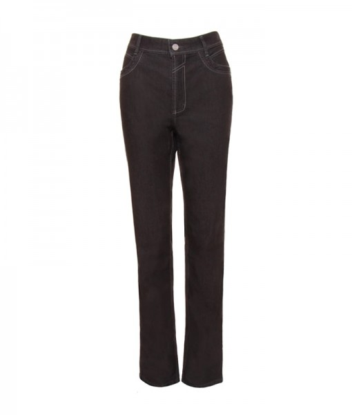 Mia CS jeans straight cut, black rinse