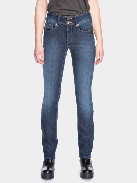 I LOVE TALL ATO Berlin Jackie slim fit Jeans extra lang für die grosse Frau 38 Inch Innenbeinlänge,blau used (vorne)