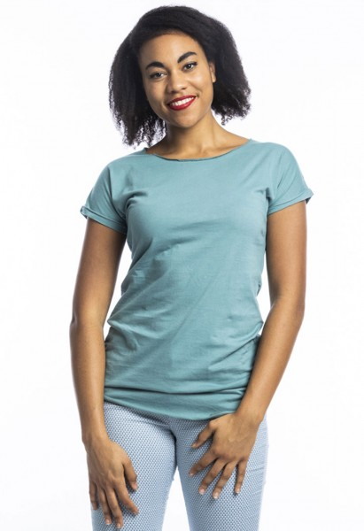 Coton organique T-shirt Anju, bleu arctique