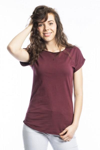Organic Cotton T-Shirt Anju, bordeaux rot
