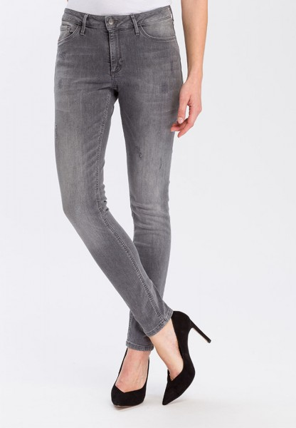 Cross Jeans Alan Skinny Fit High Waist, grey