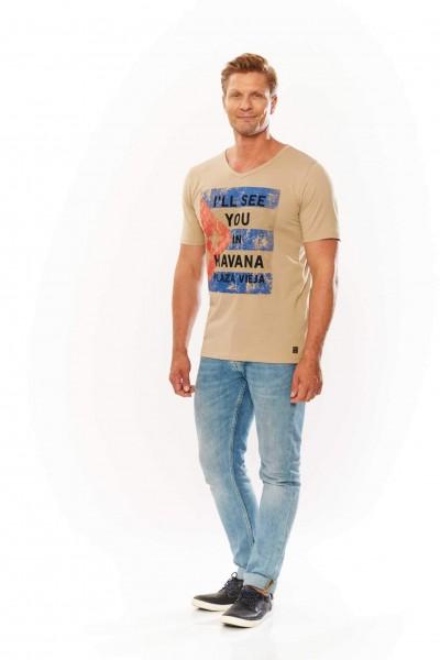 """T-shirt col V """"Havana"""""""