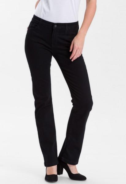 Cross jean Lauren bootcut high waist L36, noir