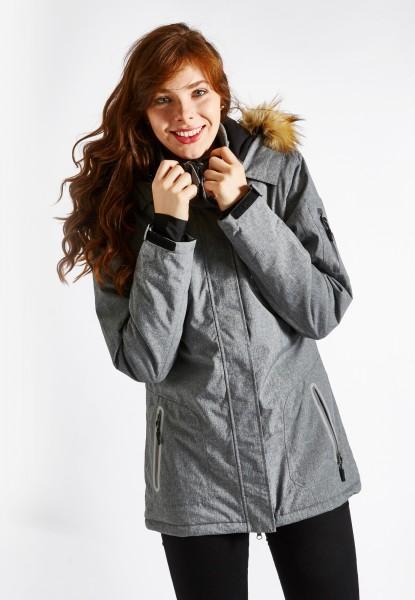 Winter-Sport Jacke, mélange grau