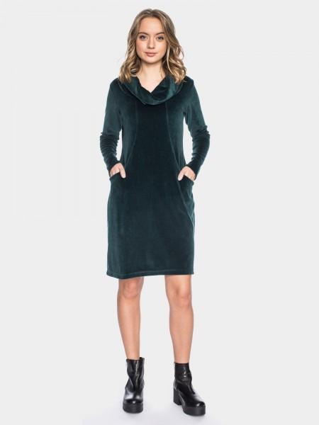Urbanes Kleid aus samtigen Nikki, grün