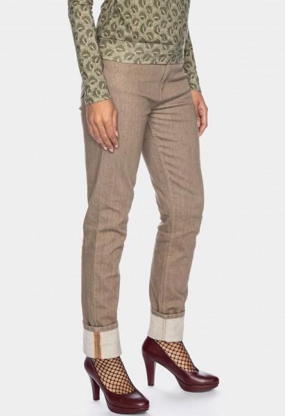 Jeans Khloe GOTS Organic L36 Inch, beige
