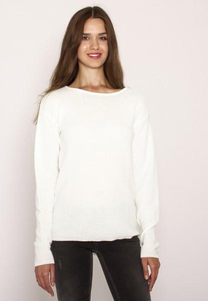 Pullover mit feinem Strickmuster