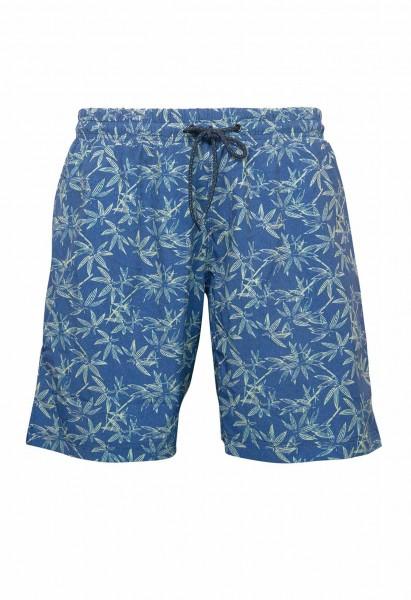 Shorts de bain imprimé fleurs, bleu
