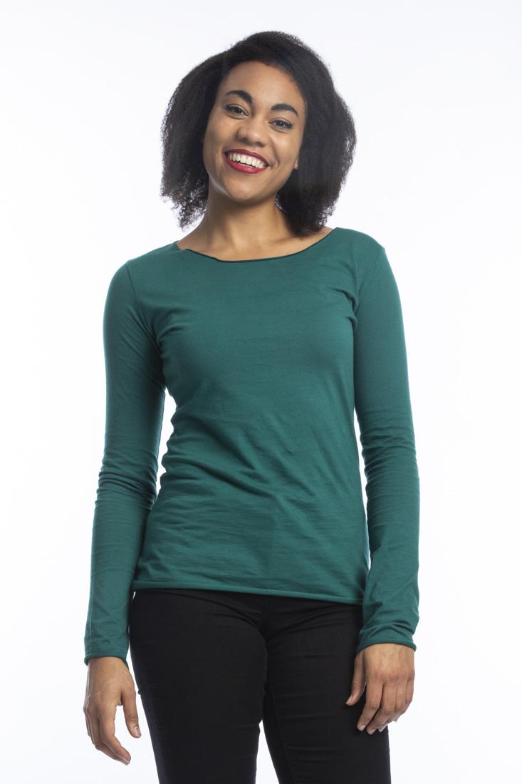 the latest 39bf7 9de2c Organic Cotton Langarm Shirt Arista, pacific grün