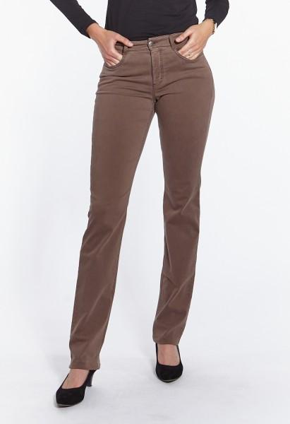 Lena pantalon 5-pocket-style, jambe droite, vert lime