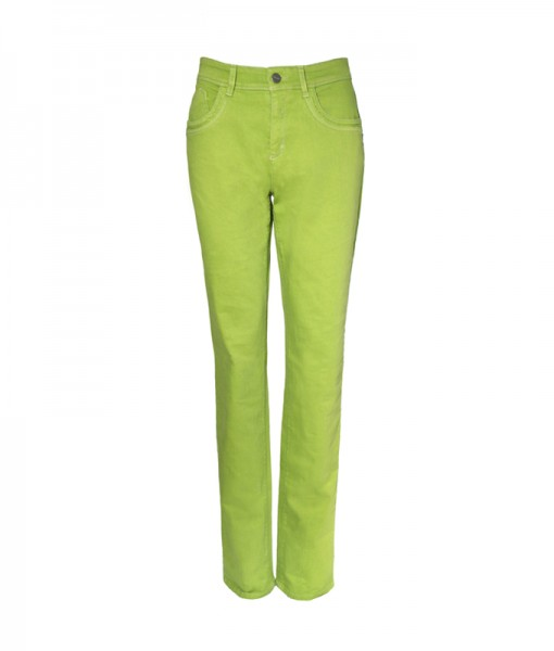 Lena 5-Pocket-Style Hose, gerader Schnitt, lime green