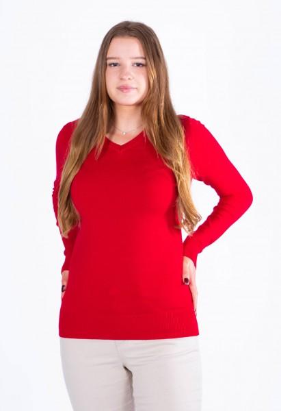 Fine Knit Sweater V-Neck