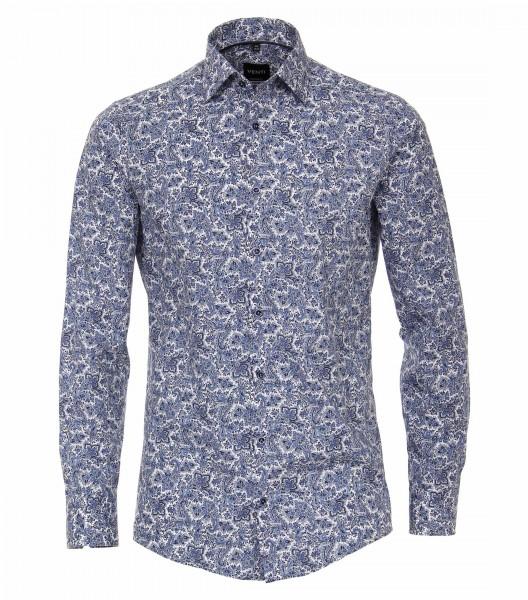 I LOVE TALL Venti Casamoda Business Hemd extra langer Arm, paisley Muster blau