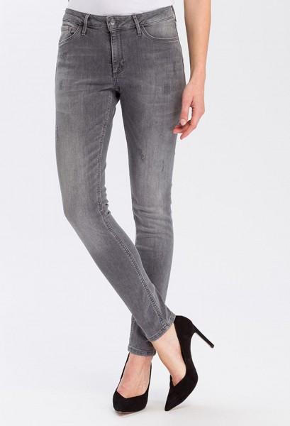 Cross jean Alan skinny fit high waist, gris