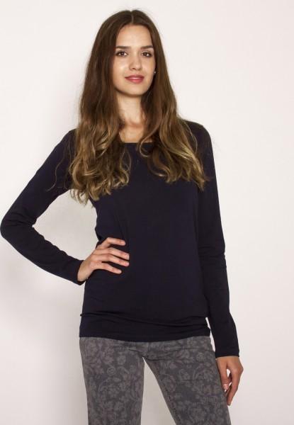 Basic Langarm Shirt Rundhals