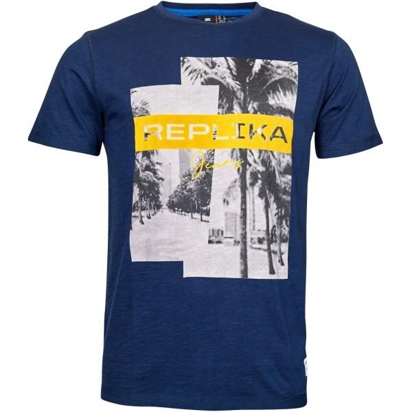 I LOVE TALL extra langes T-Shirt mit Print, blau