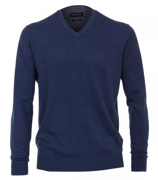Knitted pullover V-neck