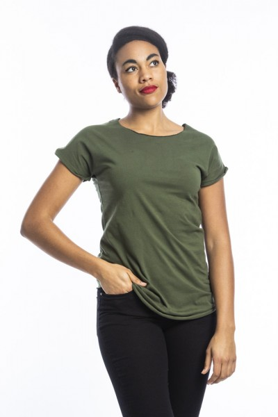 Organic cotton T-shirt Anju, olive