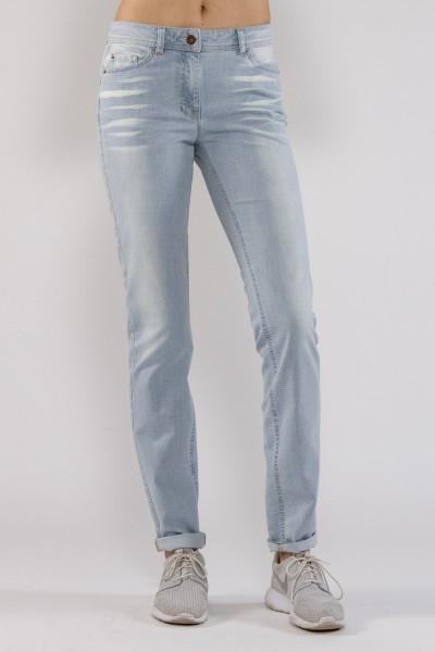 Elisa Jeans Röhre getupft und verwaschen, light blue denim