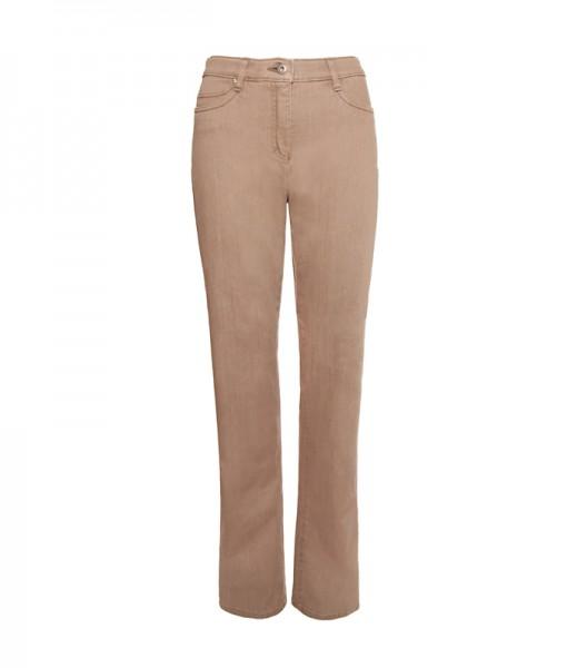 Sally Jeans mit weitem Bein, sand rinse
