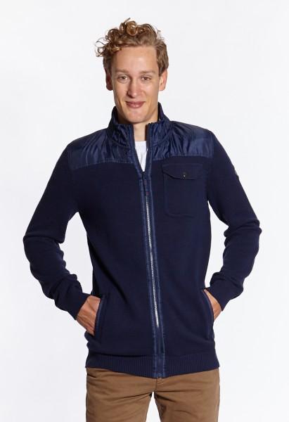 I LOVE TALL Langgrössen für Männer Strickjacke blau vorne