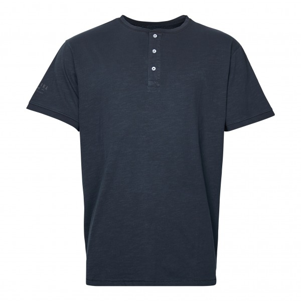 T.Shirt with button placket, black