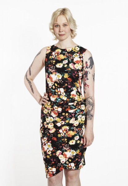 Cocktail Casual Dress, flower yellow