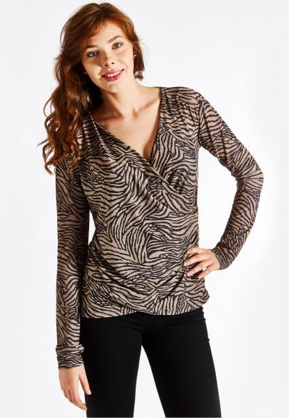Longsleeve wrap blouse-top