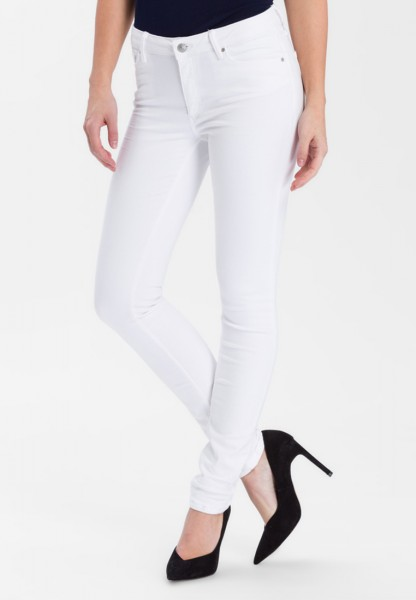 Cross Jeans Alan Skinny Fit High Waist, white - 34 Inch