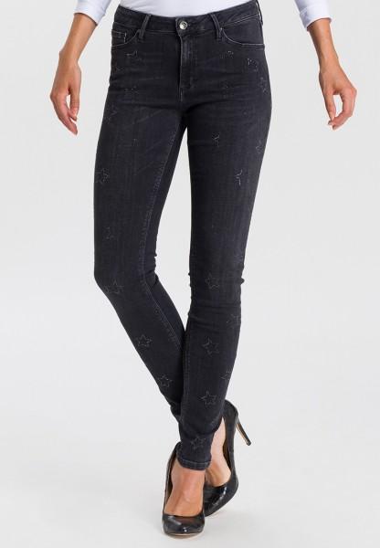 I LOVE TALL Alan Jeans Skinny Fit L36 Inch, black stars - Langgrössen Jeans