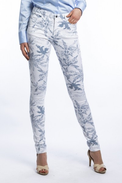 Wonderjeans Skinny L38 Inch, jungle leaf print