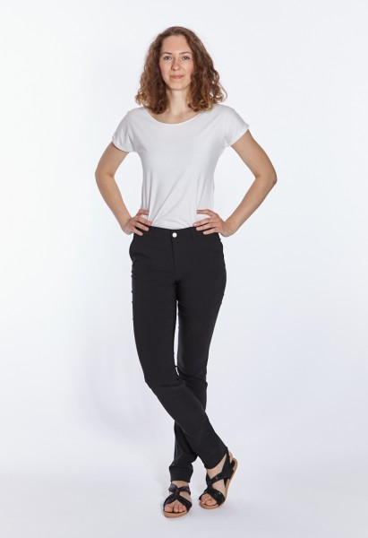 Eva slim fit trousers L38 inches, black
