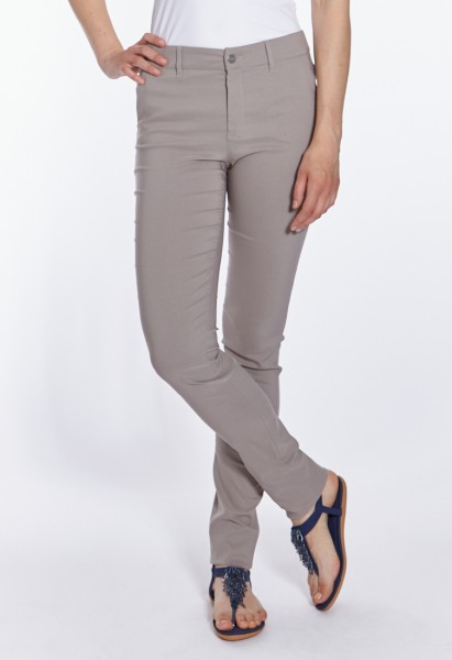 Eva slim fit trousers L38 inches, taupe