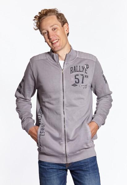 I LOVE TALL Langgrössen für Männer Sweatshirt Jacke grau vorne