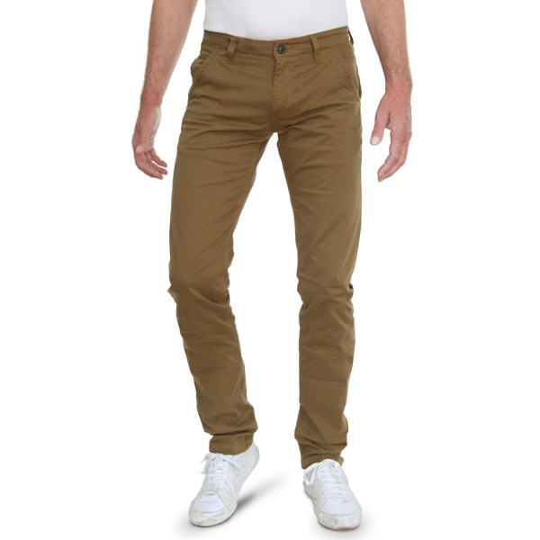 Fox Chino Trousers L38 inches, bordeaux & camel