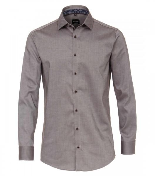 Chemise à manches longues Casual Fit 72 cm de longueur de manche, brun
