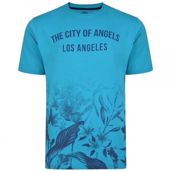 I LOVE TALL T-Shirt extra lang mit Print blue