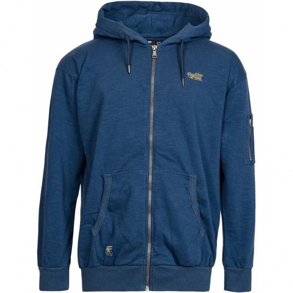 Warme Hoodie Jacke mit Fleece Innenseite, navy blau