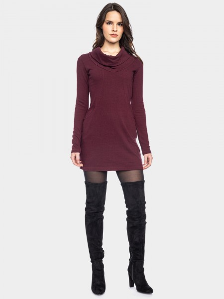 Urban knit dress, aubergine red
