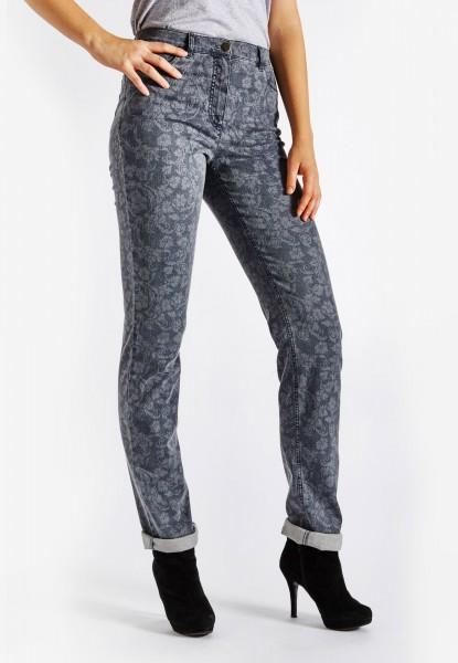 CS-Ricci Jeans with laser print, blue