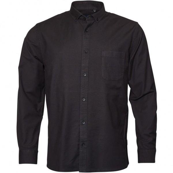 I LOVE TALL Langarmhemd in Langgrösse mit extra langen Ärmeln, schwarz