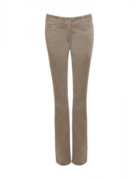 Lena 5-Pocket-Style Hose, gerader Schnitt, beige