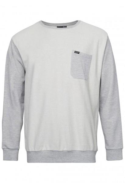 Sweat-shirt à col ras du cou, gris clair