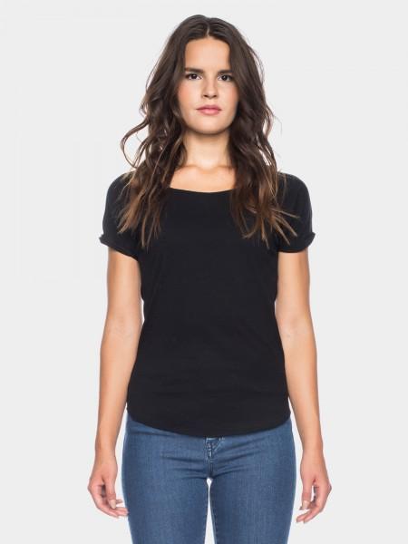 I LOVE TALL ATO Berlin Cleo T-Shirt Bio Baumwolle, schwarz