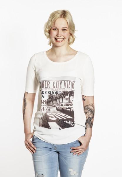 Fashion T-shirt imprimé, écru