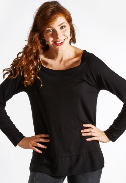 Blusen-Tunika Jersey, schwarz