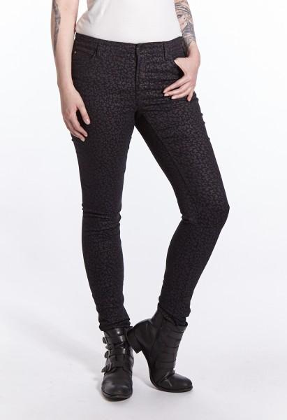 Wonderjeans Skinny L37 Inch, black grey leo print