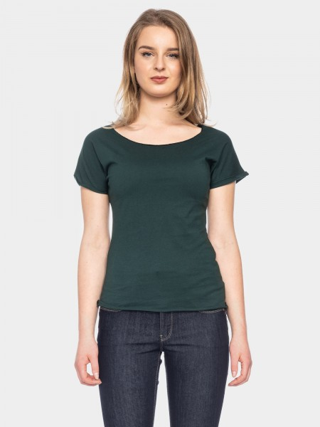 Organic cotton T-shirt Cleo, dark green